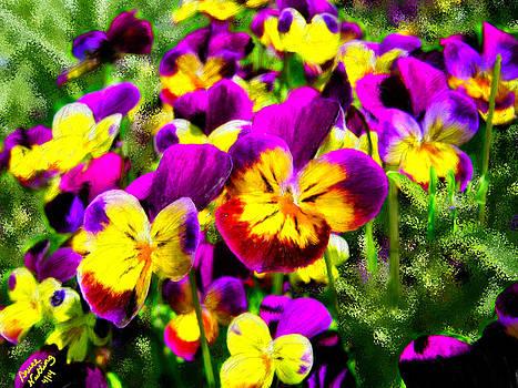 Pretty Purple Petunias by Bruce Nutting