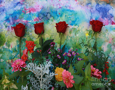 Pretty Roses in a Row by Jennifer Reitmeyer