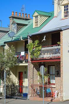 David Hill - Pretty terrace houses in Sydney - Australia