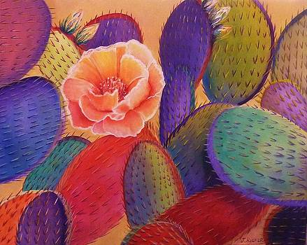 Prickly Pear Rose by Jane Ricker