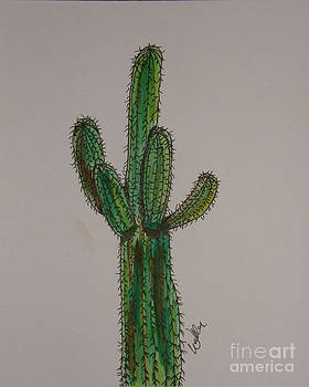 Prickly Saguaro by Marcia Weller-Wenbert