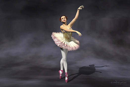 Prima ballerina Heaven on Pointe pose by Alfred Price