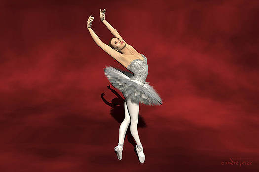 Prima ballerina Kiko on Pointe pose by Alfred Price