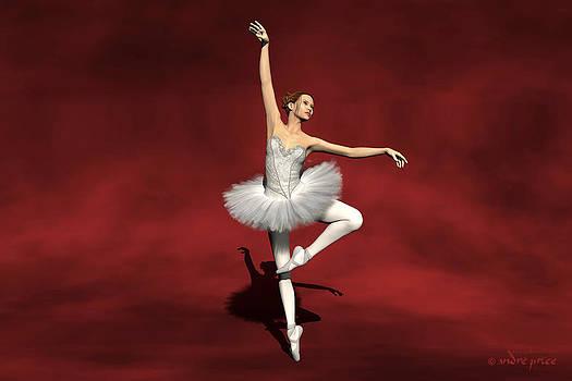 Prima ballerina Kiko Pirouettes pose by Alfred Price