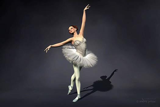Prima ballerina Nanashi Croise Derriere pose by Alfred Price