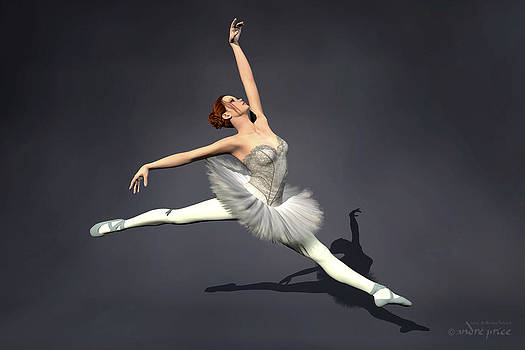 Prima ballerina Nanashi Grand Jete pose by Alfred Price