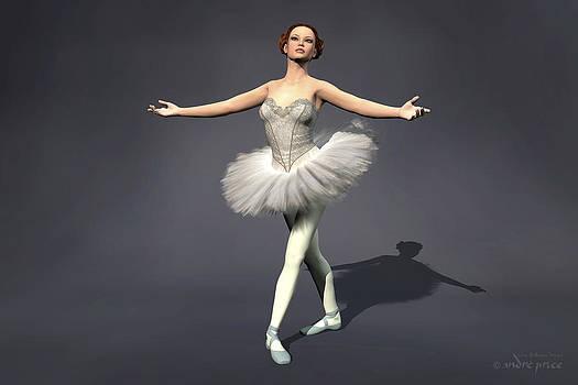 Prima ballerina Nanashi Pirouette pose by Alfred Price