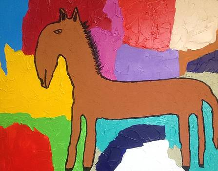 Primitive Horse by Russell Simmons