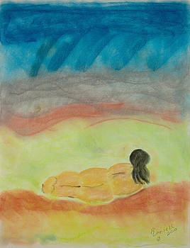 Primitive Woman In Repose by Robyn Louisell