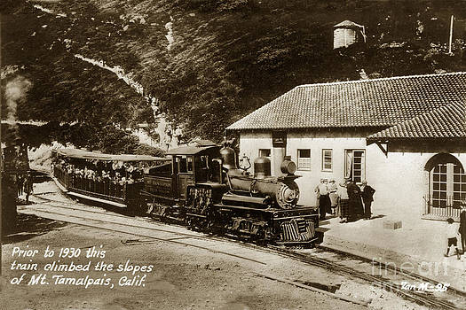 California Views Mr Pat Hathaway Archives - Prior to 1930 this Stean Shay train climbed the slop of Mt. Tamalpais California