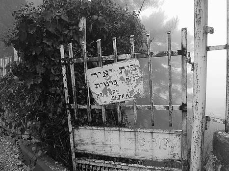 Private Entrance BW by Jennifer Wartsky