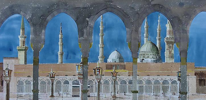 Prophet's Mosque Medina by Martin Giesen