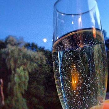 #prosecco #fire #fullmoon #celebration by Megan Rudman