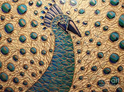 Proud as a Peacock 2 by Cynthia Snyder