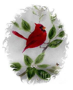 Proud Cardinal  by Ruthann  Hanson