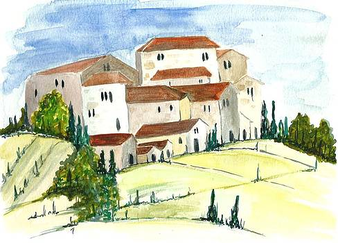 Provence hills by Garima Srivastava
