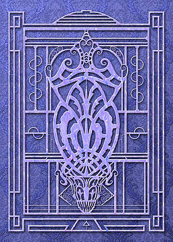 Nancy Lorene - PROVIDENCE in Periwinkle Damask