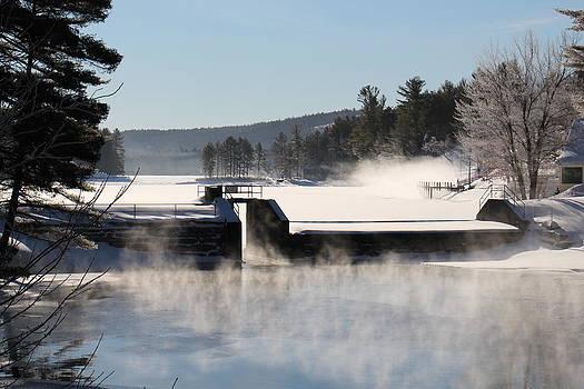 Winter  Pine River Pond  by Jeffrey Akerson