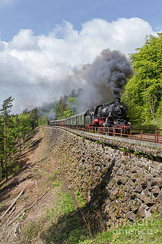 Prussian G 12 locomotive at the Schiefe Ebene by Christian Spiller