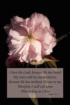 Psalm 116 1 2 by Inspirational  Designs