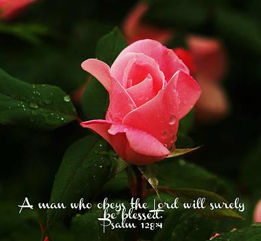 Psalm 128 4 by Roseann Errigo