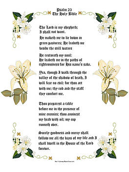 Psalm 23 from The Holy Bible by Anne Norskog