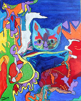 Psichodelic Kittie Cats by Pilar  Martinez-Byrne