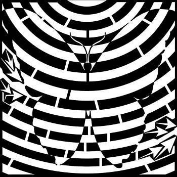 Psychedelic Butterfly Maze  by Yonatan Frimer Maze Artist