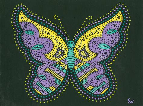 Psychedelic Butterfly by Susie Weber