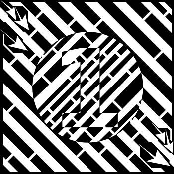 Psychedelic Number One Maze  by Yonatan Frimer Maze Artist