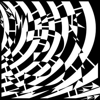 Psychedelic Number Three Maze  by Yonatan Frimer Maze Artist