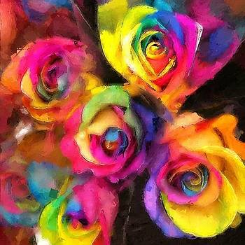Psychedelic Roses by Lyn Pacific