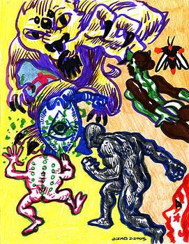 Psychedelic Super Battle by John Ashton Golden
