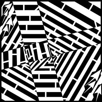 Psychedelic Web Pattern Maze by Yonatan Frimer Maze Artist