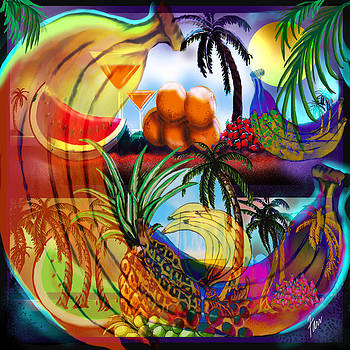 Tropica4 Psychedelic Bananas by Steve Farr