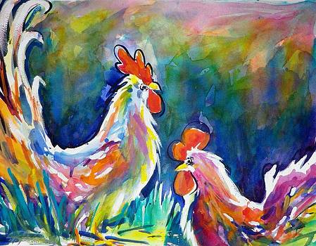Psychodelic Cluckers by Therese Fowler-Bailey