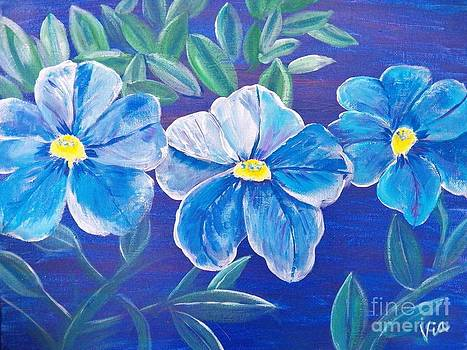 Judy Via-Wolff - Ptg. Blue Million Bells