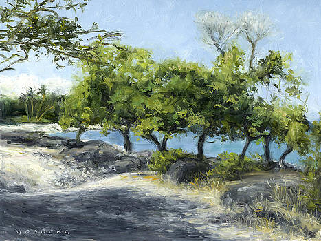 Stacy Vosberg - Puako Trees and Lava Rocks