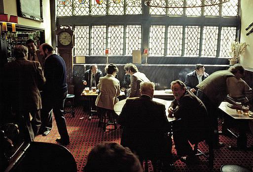 Pub interior in the 1980s by David Davies