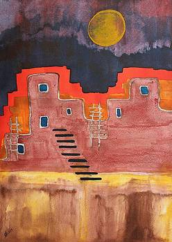 Pueblito original painting by Sol Luckman