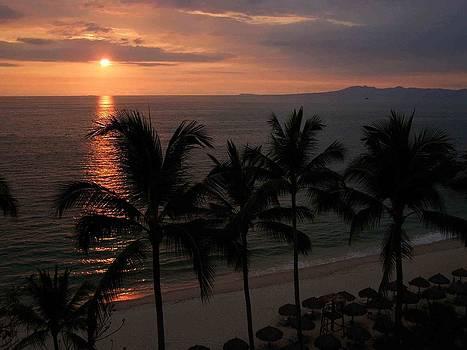 Puerto Vallarta Sunset by Becky Meyer