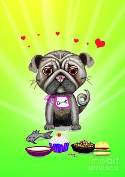Pug Appetite by Nicole O'Connor
