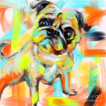 Pug Rocky by Go Van Kampen