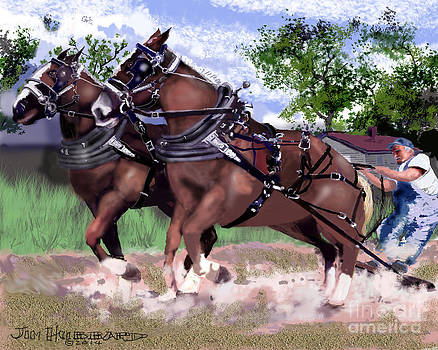 Pulling Horses by Jim Hubbard
