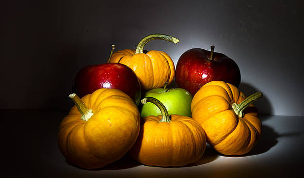 Pumpkins and Apples by Cecil Fuselier