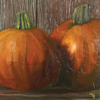 Pumpkins on tile by Matthew Young