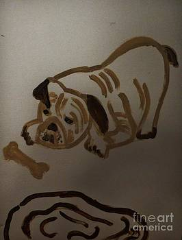 Puppy At Play by Marie Bulger