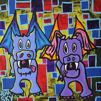 PuppyDragon MondrianCubes by Jera Sky