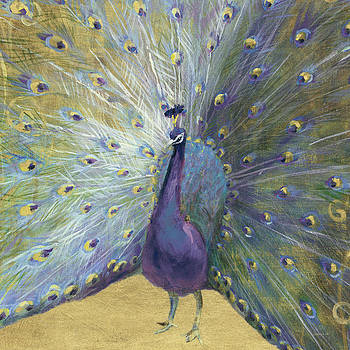 Purple And Gold Peacock by Danhui Nai