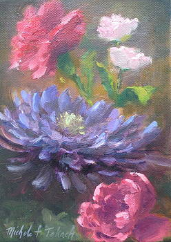 Purple and Red Flower Study by Michele Tokach